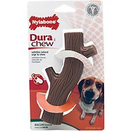 Nylabone DuraChew Hollow Stick Bacon Flavor Dog Toy, Medium