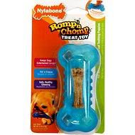 Nylabone Romp 'n Chomp Freezer Bone Treat Holder Dog Chew Toy, Small