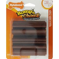 Nylabone Romp 'n Chomp Chew Toy Refill Chicken Flavor Bars Dog Treats, 12 count