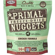 Primal Chicken Formula Nuggets Grain-Free Raw Freeze-Dried Dog Food, 14-oz bag
