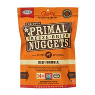 Primal Beef Formula Nuggets Grain-Free Raw Freeze-Dried Dog Food, 14-oz bag