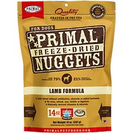 Primal Lamb Formula Nuggets Grain-Free Freeze-Dried Dog Food, 14-oz bag