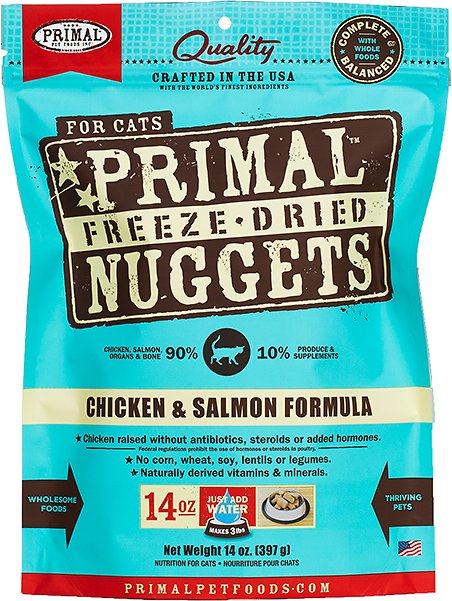 Primal chicken salmon formula nuggets grain free raw freeze dried video malvernweather Image collections