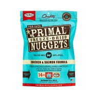 Primal Chicken & Salmon Formula Nuggets Freeze-Dried Cat Food, 14-oz bag