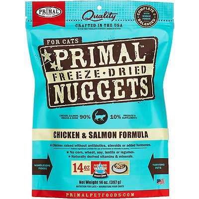 Primal Chicken and Salmon Formula Nuggets Grain-Free Raw Freeze-Dried Cat Food