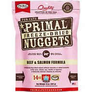 Primal Beef & Salmon Formula Nuggets Grain-Free Freeze-Dried Cat Food, 14-oz bag
