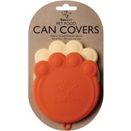 ORE Pet Can Cover, Orange/Cream, 2 pack, 4-in wide