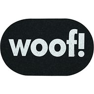 ORE Pet Recycled Rubber Oval Woof Placemat, Mini