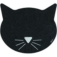 ORE Pet Recycled Rubber Black Cat Face Placemat