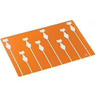ORE Pet Shadow Cat Placemat, Sunset Orange