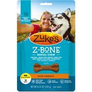 Zuke's Z-Bones Clean Carrot Crisp Dental Dog Treats, Mini, 18 count