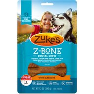 Zuke's Z-Bones Clean Carrot Crisp Dental Dog Treats, Regular, 8 count