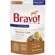 Bravo! Bonus Bites Venison Liver Freeze-Dried Dog Treats, 3-oz bag