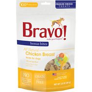 Bravo! Bonus Bites Chicken Breast Freeze-Dried Dog Treats, 3-oz bag