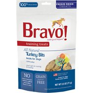 Bravo! Training Treats Turkey Bits Freeze-Dried Dog Treats, 2.5-oz bag