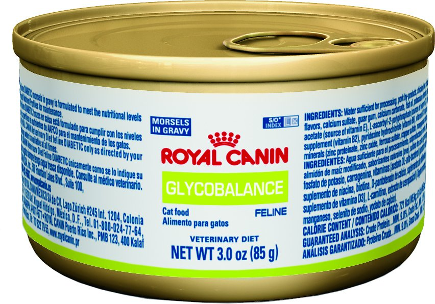Royal Canin Veterinary Diet Glycobalance Morsels In Gravy Canned Cat Food, 3-oz, case of 24 - Chewy.com