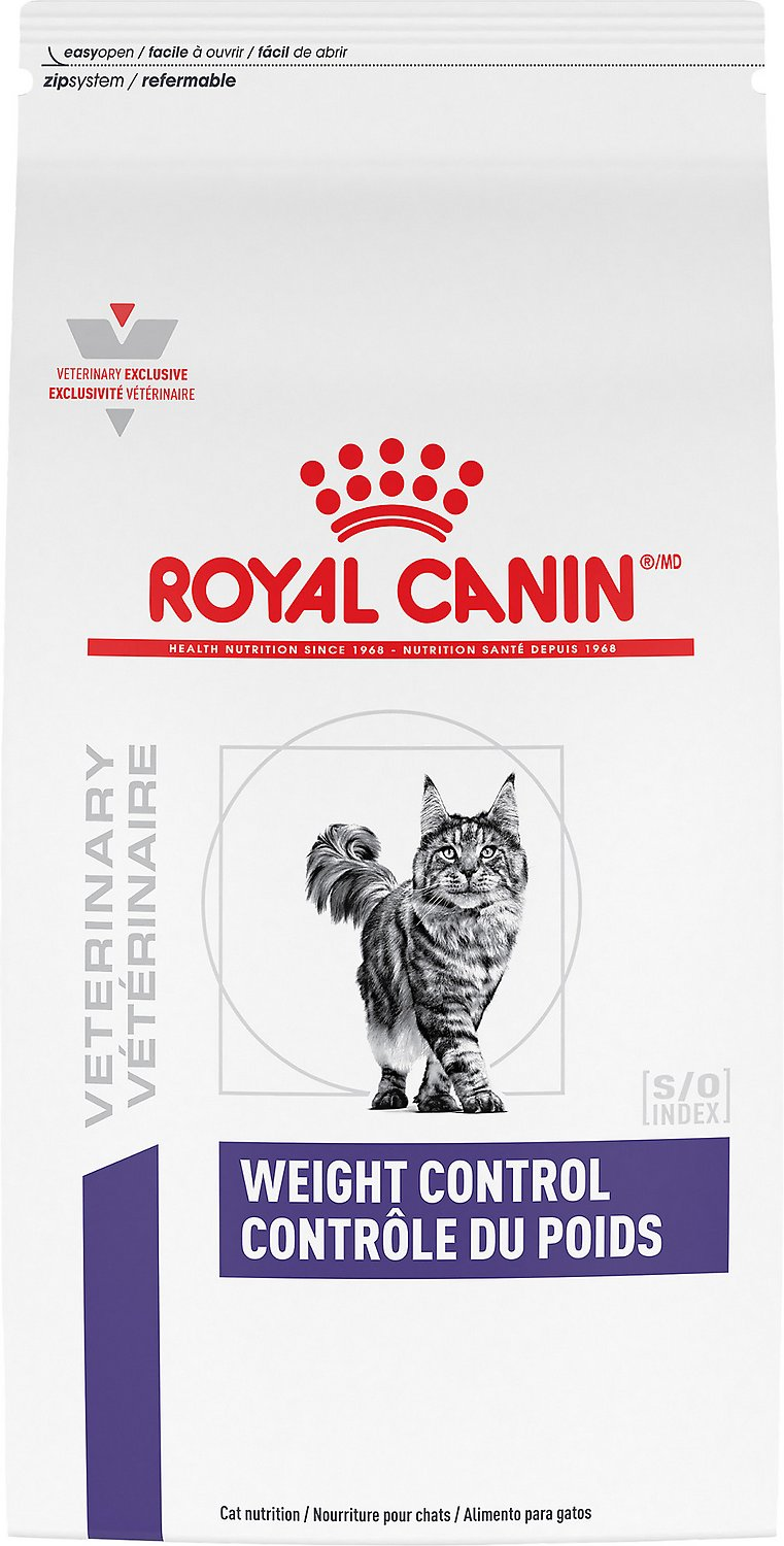 Royal Canin Veterinary Diet Weight Control Formula Dry Cat Food, 17.6-lb  bag - Chewy.com