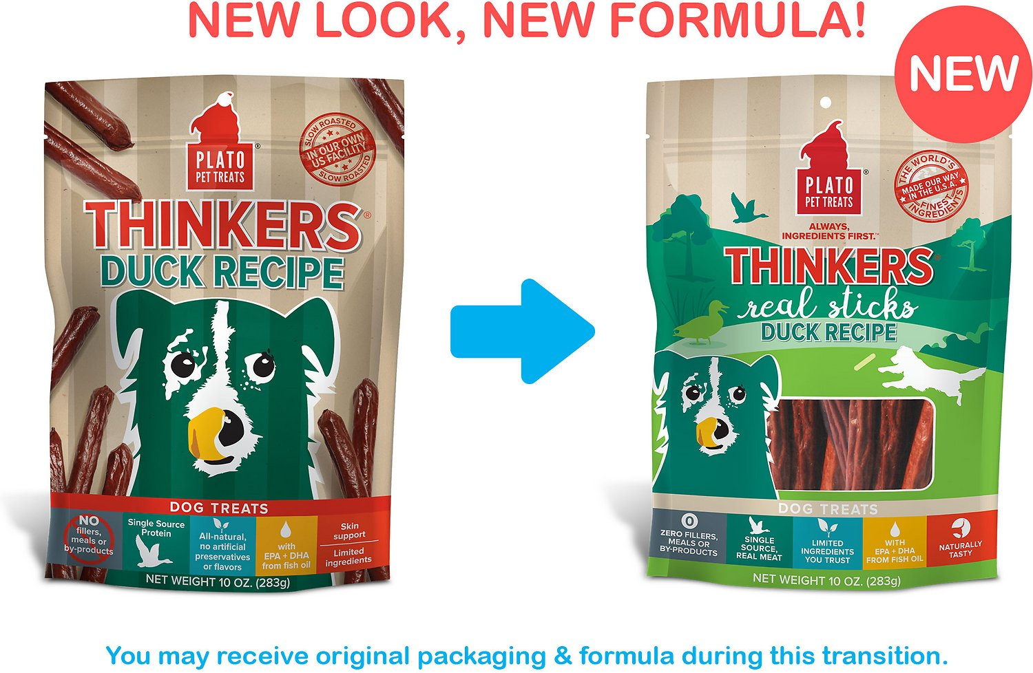Thinkers Natural Duck Smart Dog Treats