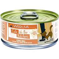 Weruva Cats in the Kitchen Fowl Ball Chicken & Turkey Recipe Au Jus Canned Cat Food, 6-oz, case of 24
