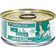 Weruva Cats in the Kitchen Funk In The Trunk Chicken Recipe in Pumpkin Consomme Canned Cat Food, 6-oz, case of 24