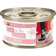Weruva Cats in the Kitchen Kitty Gone Wild, Wild Salmon Recipe Au Jus Grain-Free Canned Cat Food, 3.2-oz, case of 24