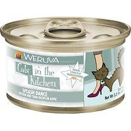 Weruva Cats in the Kitchen Splash Dance Chicken & Ocean Fish Recipe Au Jus Grain-Free Canned Cat Food, 3.2-oz, case of 24