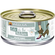 Weruva Cats in the Kitchen Splash Dance Chicken & Ocean Fish Recipe Au Jus Canned Cat Food, 6-oz, case of 24
