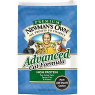 Newman's Own Organics Advanced Formula Chicken & Brown Rice Dry Cat Food, 4.75-lb bag