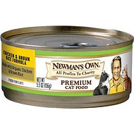 Newman's Own Organics Chicken & Brown Rice Formula Canned Cat Food, 5.5-oz, case of 24