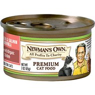 Newman's Own Organics Chicken & Salmon Formula Canned Cat Food, 3-oz, case of 24