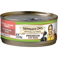 Newman's Own Organics Chicken & Salmon Formula Canned Cat Food, 5.5-oz, case of 24