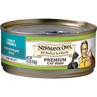 Newman's Own Organics Turkey Formula Canned Cat Food, 5.5-oz, case of 24