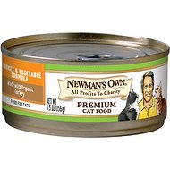 Newman's Own Turkey & Vegetable Formula Canned Cat Food, 5.5-oz, case of 24