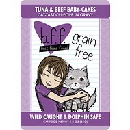 BFF Tuna & Beef Baby Cakes Recipe in Gravy Cat Food Pouches, 3-oz, case of 12