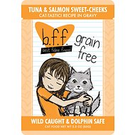 BFF Tuna & Salmon Sweet Cheeks Recipe in Gravy Cat Food Pouches, 3-oz, case of 12