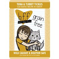BFF Tuna & Turkey Tickles Recipe in Gravy Grain-Free Cat Food Pouches, 3-oz, case of 12