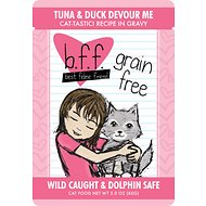 BFF Tuna & Duck Devour Me Recipe in Gravy Cat Food Pouches, 3-oz, case of 12