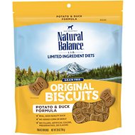 Natural Balance L.I.T. Limited Ingredient Treats Potato & Duck Formula Dog Treats, Regular, 28-oz bag