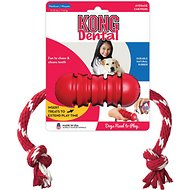 KONG Dental with Rope Dog Toy, Medium