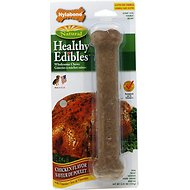 Nylabone Healthy Edibles Longer Lasting Chicken Flavor Dog Bone Treat, Large