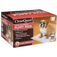 ClearQuest Super-Absorbent Puppy Pads, 100 count