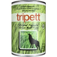 PetKind Tripett Original Formula Green Beef Tripe Grain-Free Canned Dog Food, 13-oz, case of 12