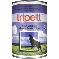 PetKind Tripett New Zealand Green Lamb Tripe Canned Dog Food, 13-oz, case of 12