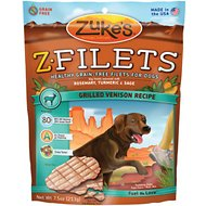 Zuke's Z-Filets Grilled Venison Recipe Dog Treats, 7.5-oz