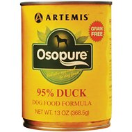 Artemis Osopure 95% Duck Grain-Free Formula Canned Dog Food, 13-oz, case of 12