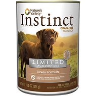 Nature's Variety Instinct Limited Ingredient Diet Turkey Formula Canned Dog Food, 13.2-oz, case of 12