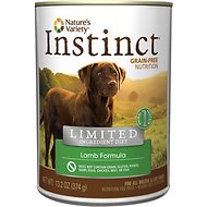 Nature's Variety Instinct Limited Ingredient Diet Lamb Formula Grain-Free Canned Dog Food, 13.2-oz, case of 12