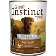 Nature's Variety Instinct Limited Ingredient Diet Duck Formula Canned Dog Food, 13.2-oz, case of 12
