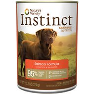 Nature's Variety Instinct Grain-Free Salmon Formula Canned Dog Food, 13.2-oz, case of 12