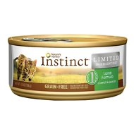 Nature's Variety Instinct Limited Ingredient Diet Lamb Formula Grain-Free Canned Cat Food, 5.5-oz, case of 12